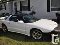 Must sell. 1997 White Firebird Trans Am; WS6, 5.7L with