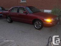 s1997 Grand Marquis red, grey leather interior 96000