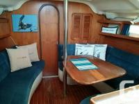 1997 Hunter 376. Ready for summer cruising. Hot and