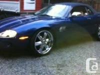 1997 jaguar xk8 convertible, beautiful blue exterior