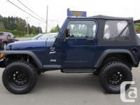 Make Jeep Model TJ Year 1997 Colour BLUE Trans Manual