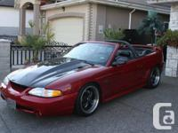 I'm selling my 1997 Mustang GT Convertible 5spd.  I