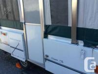 Mint disorder coleman outdoor tents trailer,