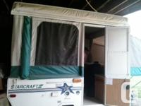 Good Condition has heater, stove, fridge, sink and port