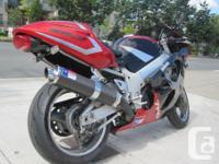 1997 Suzuki GSX-R750. Red/Black/Silver. $3699! Great