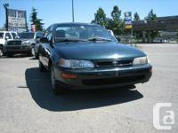 Year: 1997 Make: Toyota Design: Corolla Cut: Base