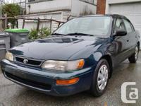 Make Toyota Model Corolla Year 1997 Colour Green kms