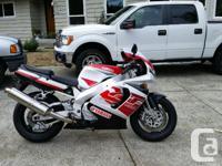 1997 Yamaha YZF750 Motorcycle for sale. New Pirelli