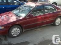 Make Honda Model Accord Sdn Year 1997 Colour RED kms
