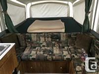 1998 coleman tent trailer, built by fleetwood. Fridge,