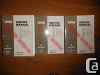 """1998 Service Guidebook Bonneville, Eighty-Eight,"