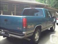 Make GMC Model Sierra 1500 Year 1998 Colour Blue/green