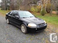 Make Honda Model Civic Year 1998 Colour black kms