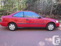 Make Honda Model Civic Coupe Year 1998 Colour Red kms