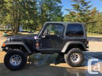 Make Jeep Model TJ Year 1998 Colour Black kms 359099