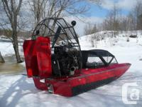 Canadian manufactured airboat. 355 HP ZZ4 engine,