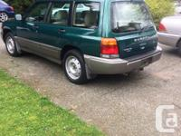 Make Subaru Model Forester Year 1998 Colour Green kms