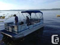 Good condition, 1998 Sun Party pontoon with 60 Evinrude