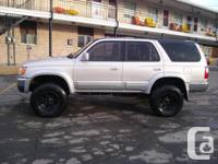 Selling a lifted Toyota 4 Runner. Runs great, only