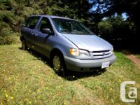 Make Toyota Model Sienna Year 1998 Colour Blue kms