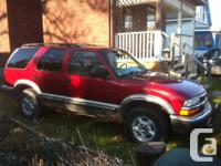 For sale a 1999 4 door Chevy Blazer 4x4 that's being