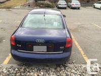 Make Audi Model A6 Year 1999 Colour Blue kms 143000