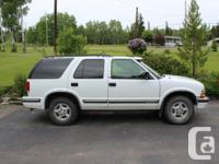 Selling my 1999 Chev Blazer, wonderful for a very first