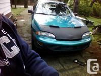 1998 Chevy Cavalier 4 door blue 2.2 5 speed, nice body,