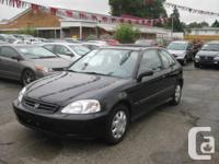 1999 Honda Civic CX Hatchback, Black, 5 Speed Standard,