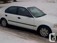 Selling a nice shape Honda Civic Sedan, 5 speed manual