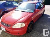 Make Honda Year 1999 Colour Red Trans Manual kms