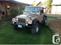 Armstrong, BC 1999 Jeep TJ Sport 4x4 The Jeep TJ offers