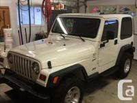 Make Jeep Model TJ Year 1999 Colour white kms 190