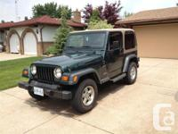Windsor, ON 1999 Jeep Wrangler Sports The Jeep offers a