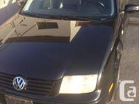 1999 VW Jetta   168000kms  Automatic transmission  Very