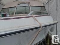 17.5 feet, good condition. Johnson Motor, 115HP, bought
