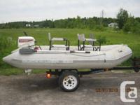 1999 Quicksilver 330 inflatable raft by Mercury Marine