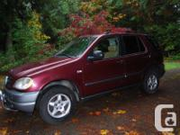 Make Mercedes-Benz Model ML320 Year 1999 Colour Red