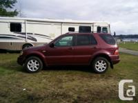 Make Mercedes-Benz Model Ml Year 1999 Colour Red kms
