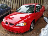 Make Pontiac Model Grand Am Year 1999 Colour Red kms