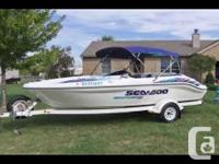 Watercraft is a 1999 seadoo sportster 1800. In great