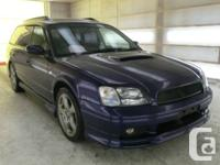 1999 Subaru Legacy twin turbo GT, all wheel drive, A/M