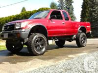 1999 tacoma trd raised 4x4. hand-operated