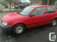I am selling my Tercel because I am moving across the