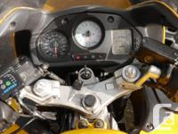 1999 yellow VFR 800 for Sale 56,000 KMs. Bike was just