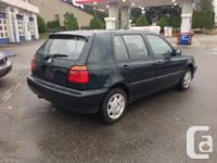 Make Volkswagen Model Golf Year 1999 Colour GREEN kms