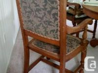 8- 19th century chairs, solid Oak, Wooden dowel