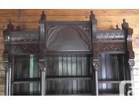 19th century mahogany cabinet. A superb open mahogany