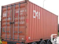 FOR SALE STEEL STORAGE CONTAINER ALL EQUIPMENTS ARE IN