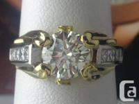 Absolute stunning 2.01ct T.W Platinum with 18k yellow